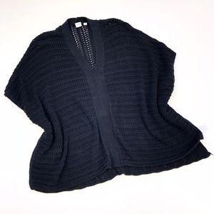 GAP | Chunky Knit Sweater Poncho Black